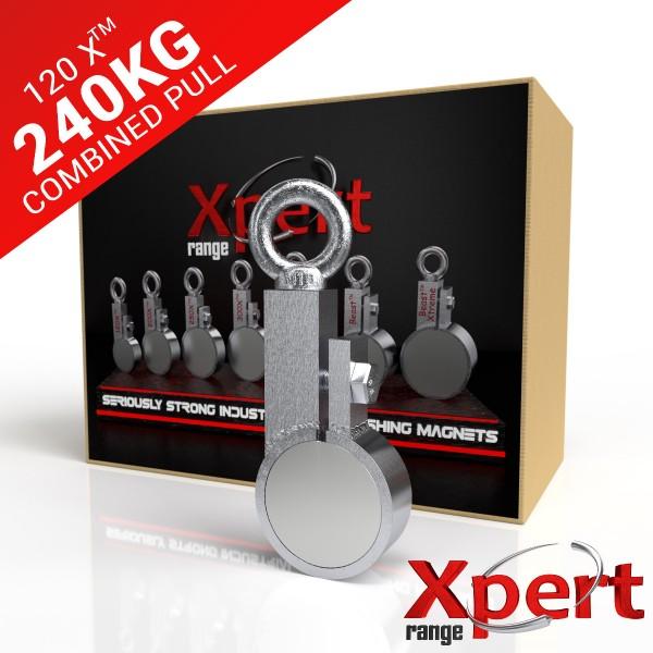 120 X™ Recovery Clamp Neodymium 240KG / 529LB Fishing Magnet