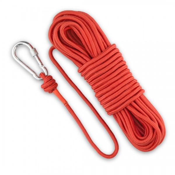 20m Magnet Fishing Rope & Carabiner 500kg Break
