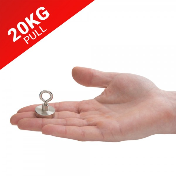 20kg Pull Recovery Fishing Magnet With Eyebolt