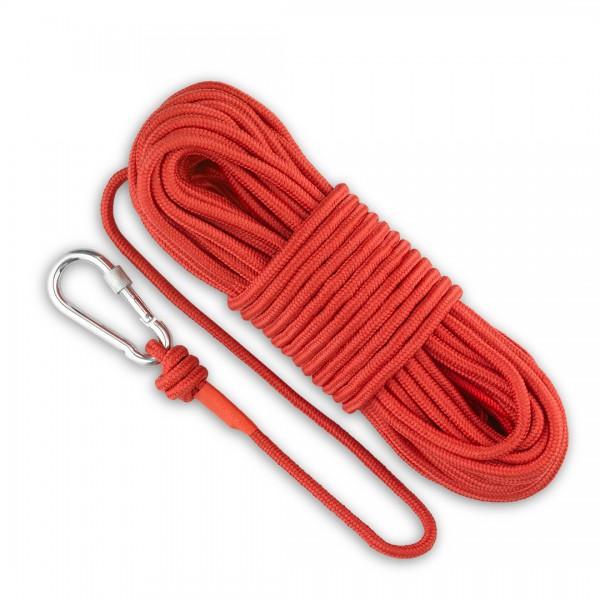 30m Magnet Fishing Rope & Carabiner 500kg Break