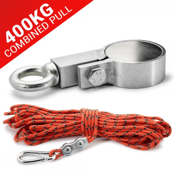 60mm Recovery Magnet With Eyebolt, Carabiner & 20m Rope, 200kg