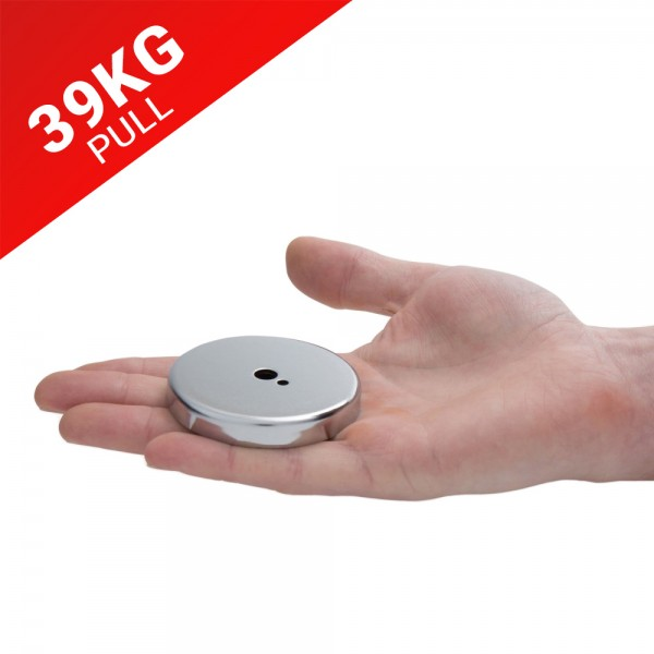 66mm X 10mm Recovery Magnet With Mounting Hole 39kg Pull