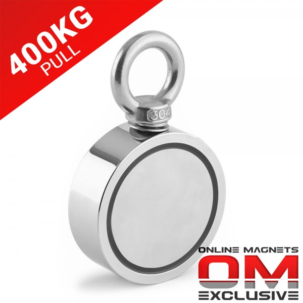400kg Pull Recovery Fishing Magnet