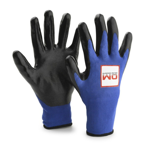 Nylon Nitrile Coated Magnet Fishing Gloves 13 Gauge