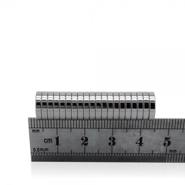 10mm Dia X 2mm Neodymium Disc Magnets