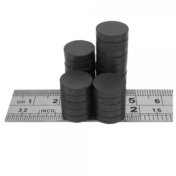 12mm dia x 3mm C8 strong ferrite disk magnets (pack of 25)