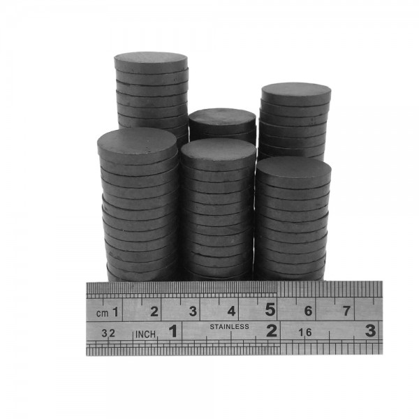 20mm dia x 3mm C8 strong ferrite disk magnets (pack of 25)