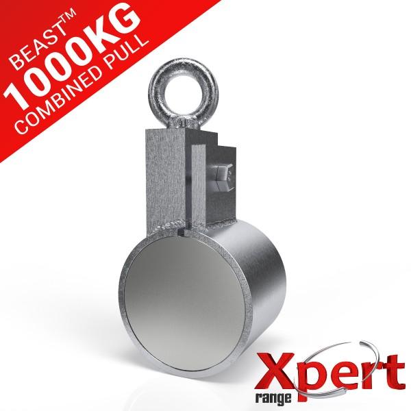 BEAST ™ Recovery Clamp Neodymium Fishing Magnet 1000KG / 1 TON