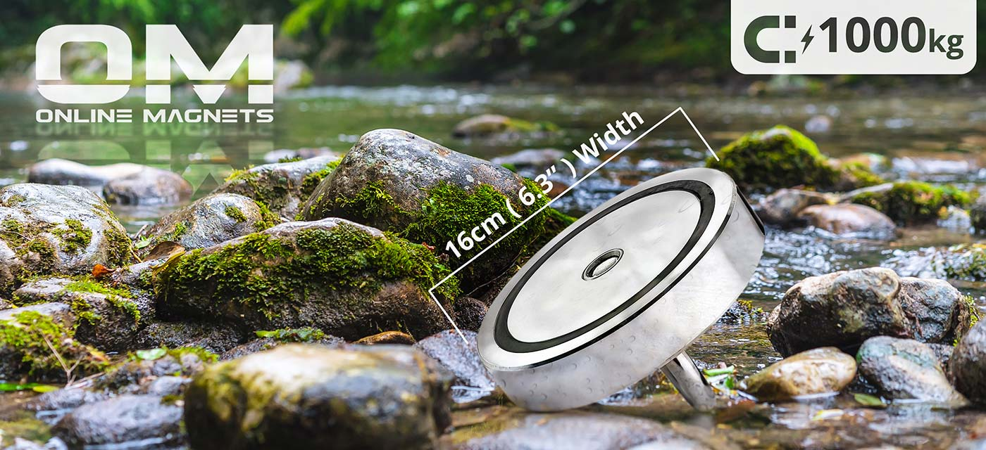 Gravity™ 1000KG (ONE TON) Pull Recovery Fishing Magnet