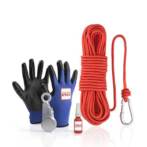120 X™ Recovery Clamp Neodymium 240KG / 529 LB Fishing Magnet - The Full Kit