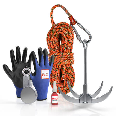 300 X™ Recovery Clamp Neodymium 600KG / 1322 LB Fishing Magnet - The Full Kit